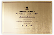 Intertanko Certificate for Christos N. Lialioutis