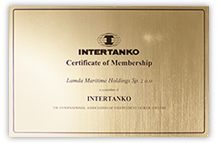 Intertanko Certificate for Lamda Maritime Holdings Sp. z o.o.